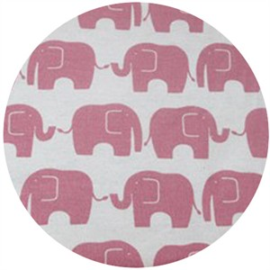 Kokka Japan, FLANNEL, Elephants Pink