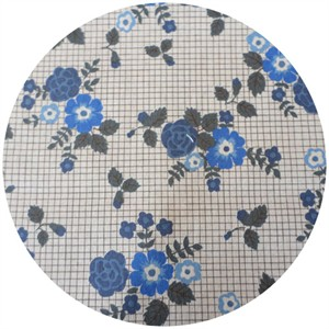 Kokka Japan, Graphed Flowers Blue