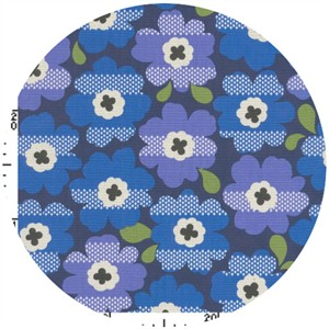 Kokka Japan, Graphic Floral Royal