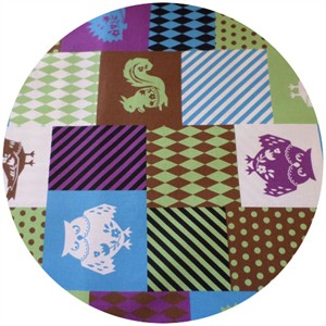 Kokka Japan, Harlequin Squares Purple/Green