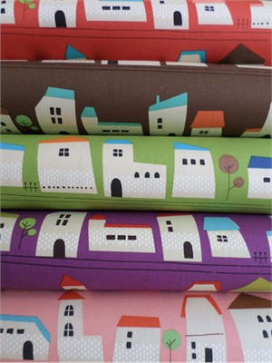 Kokka Japan, Houses Sampler in FAT QUARTERS 5 Total