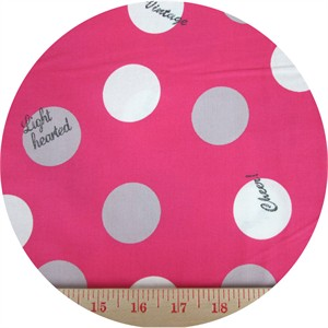 Kokka Japan, Lighthearted, Big Dots Pink