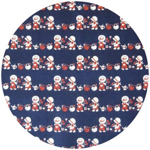 Kokka Japan, Trefle Little Bonnets Navy