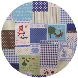 Kokka Japan, Little Red Cross Stitch Cheater Blue