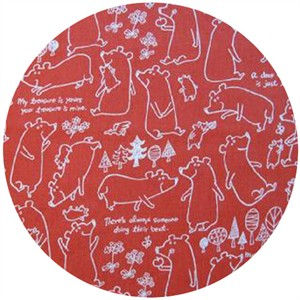 Kokka Japan, Mustaherukka Bears, Outline Red