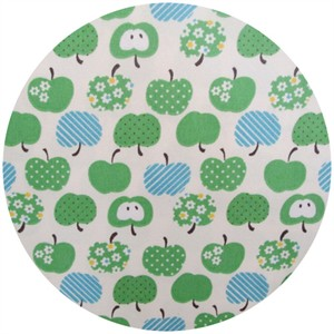 Kokka Japan, Patterned Apples Green