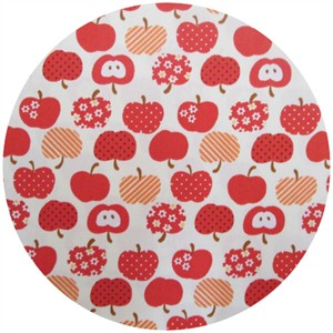 Kokka Japan, Patterned Apples Red
