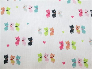 Kokka Japan, Printed Corduory, Kitties