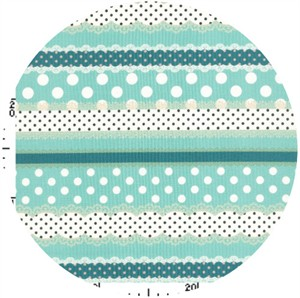 Kokka Japan, Ribbon Stripe Aqua