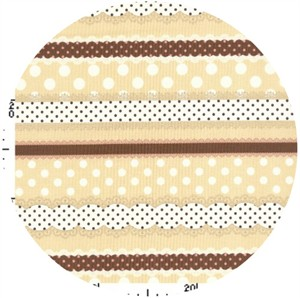 Kokka Japan, Ribbon Stripe Cream