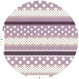 Kokka Japan, Ribbon Stripe Lavender
