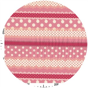 Kokka Japan, Ribbon Stripe Hot Pink