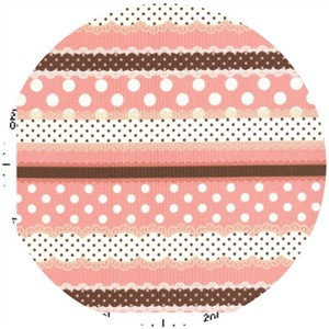 Kokka Japan, Ribbon Stripe Pink