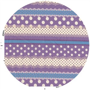 Kokka Japan, Ribbon Stripe Purple