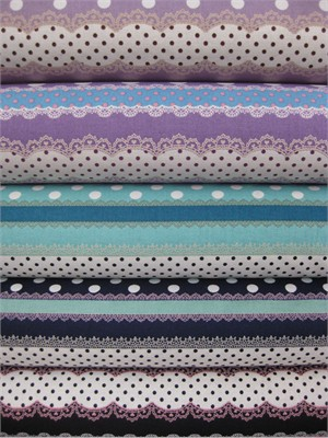 Kokka Japan, Ribbon Stripe Sampler, Sweet in FAT QUARTERS, 5 Total