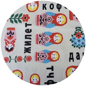 Kokka Japan, Russian Dolls Cream