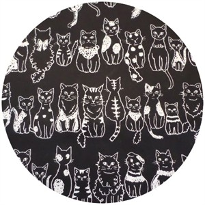 Kokka Japan, Sketched Cats Black