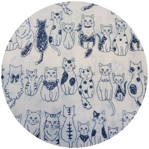 Kokka Japan, Sketched Cats Navy