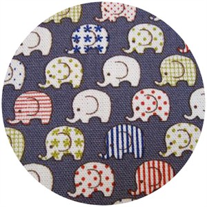 Kokka Japan, Toistaa, Patterned Elephants Gray