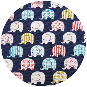 Kokka Japan, Toistaa, Patterned Elephants Navy