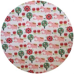 Kokka Japan, Trefle, Hippos Pink