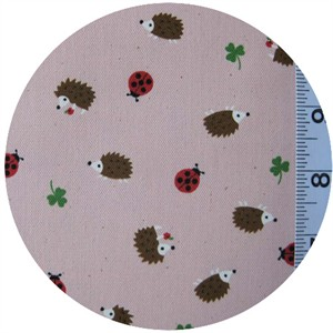 Kokka Japan, Trefle Lucky Hedgehogs Pink