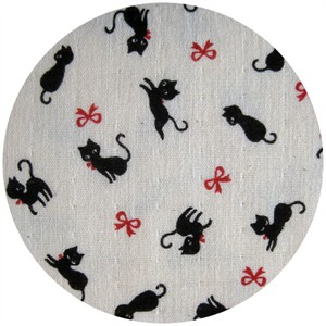 Kokka Japan, Winter 2013, DOUBLE GAUZE, Red Ribbon Kitty