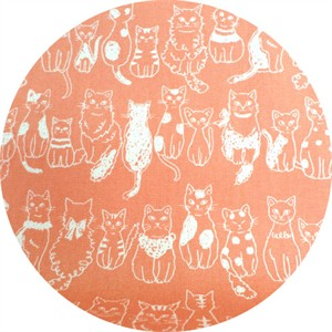 Kokka Japan, Sketched Cats Coral