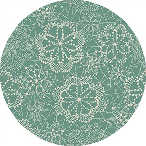Maureen Cracknell for Art Gallery, Fleet & Flourish, Lace in Bloom Sky