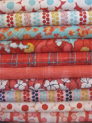 Laura Gunn, Cosmos, Coral in FAT QUARTERS 10 Total