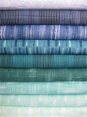Laura Gunn, Edges, Sea and Sky in FAT QUARTERS 10 Total