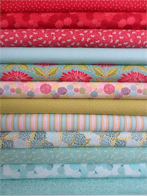 Lauren & Jessi Jung for Moda, Chantilly Mix Up  in FAT QUARTERS 10 Total (PRE-CUT)
