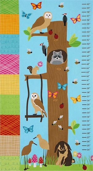 "Laurie Wisbrun, Bright and Buzzy, Growth Chart Panel (24"" Panel)"
