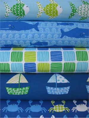 Laurie Wisbrun, Don't Be Crabby, Ocean in FAT QUARTERS, 5 Total