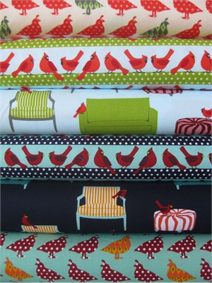 Laurie Wisbrun, Holiday Sweet Tweets in FAT QUARTERS, 6 Total