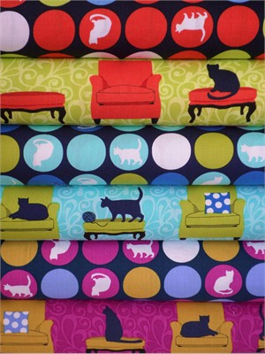 Laurie Wisbrun, Sitting Pretty in FAT QUARTERS, 5 Total