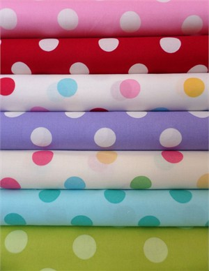 Lecien, Color Basic, Fun in FAT QUARTERS 5 Total (PRE-CUT)