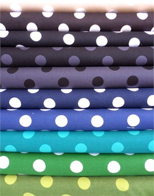 Lecien, Color Basic, Lake Water in FAT QUARTERS 10 Total  (PRE-CUT)