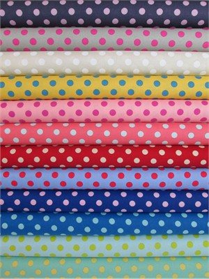 Lecien, Color Basics Spots in FAT QUARTERS 10 Total