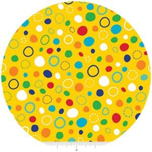 Lesley Grainger for Riley Blake, In the Ocean, Dots Yellow