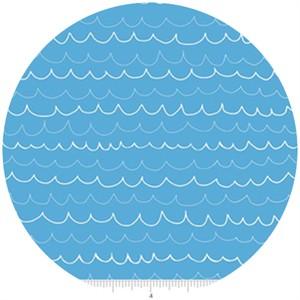 Lesley Grainger for Riley Blake, Treasure Map, Waves Blue