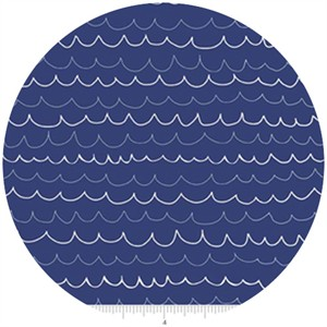 Lesley Grainger for Riley Blake, Treasure Map, Waves Navy