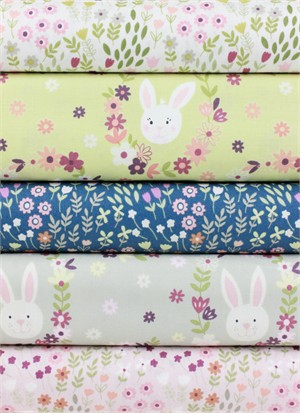 Lewis & Irene, Bunny Garden in FAT QUARTERS 5 Total