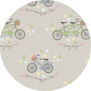 Lewis & Irene, Picnic in the Park, Bicycles Grey