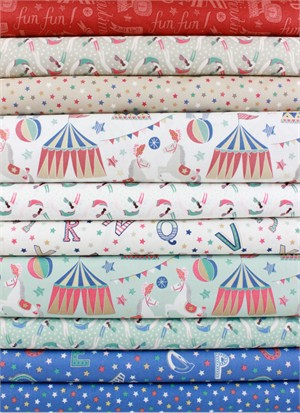 Lewis & Irene, Vintage Circus in FAT QUARTERS 10 Total
