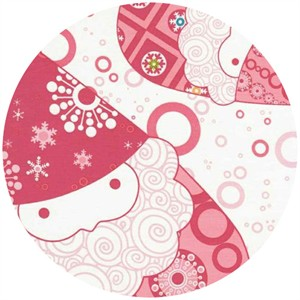 Lecien, Winterkist, Santas Pink (1 yard panel)