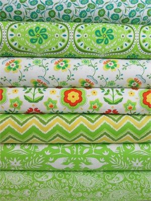 Lily Ashbury for Moda, Folklore, Celery in FAT QUARTERS 7 Total