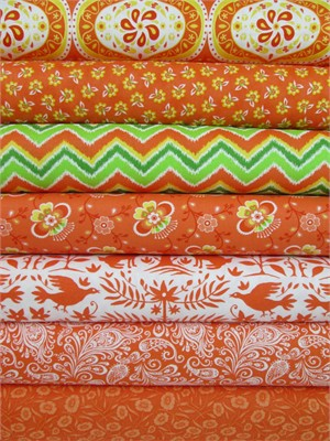Lily Ashbury for Moda, Folklore, Pumpkin in FAT QUARTERS 7 Total