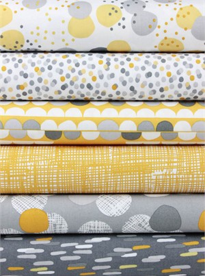 Lisa Tilse for Robert Kaufman, Light and Shade Earth in FAT QUARTERS 6 Total (PRE-CUT)