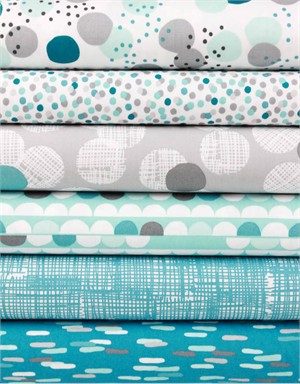 Lisa Tilse for Robert Kaufman, Light and Shade Lagoon in FAT QUARTERS 6 Total